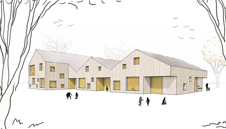Gefaltete Dachlandschaft Kindertagesstätte Von Dorte: Neubau Kindertagesstätte Kronsheide In Wahlstedt