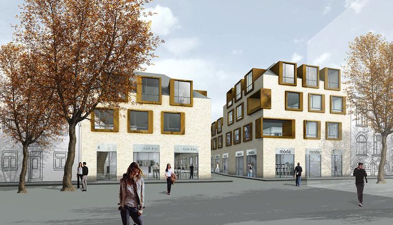 Eckebebauung kleikuhle steinwender architekten heide - Steinwender architekten ...